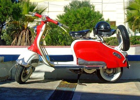 Lambretta, Scooter, Red Scooter, Red Lambretta Scooter