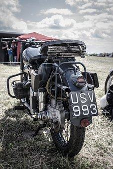 Vintage, Motorbike, Classic, Bike, Motorcycle, Road