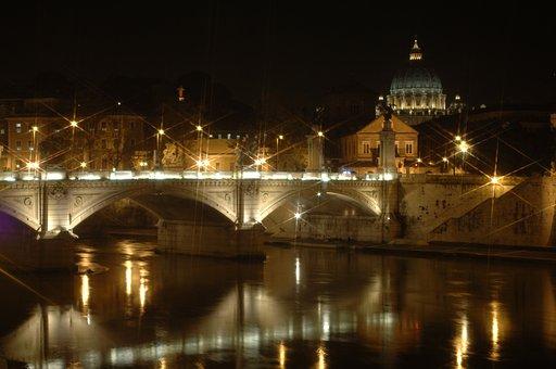St Peters Basilica, Rome, Night, Basilica, Italy