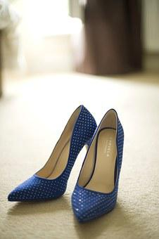 High Heels, Stilettos, Shoes, Heels, Bridal, Blue