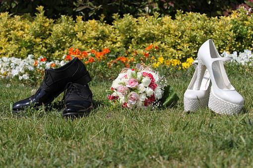 Bride Groom, Shoes, Marriage, Wedding, Landscape