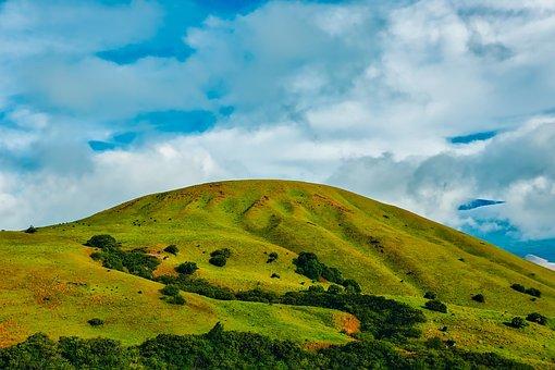 California, Hills, Sky, Clouds, Landscape, Trees