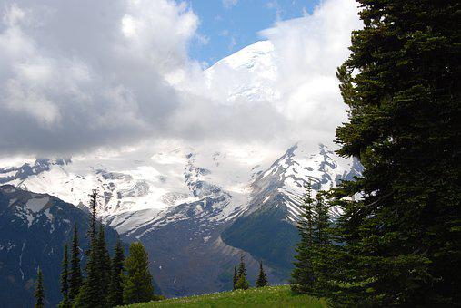 Mountain, Snow, Eternal, Cloud, Mist, Landscape, Nature