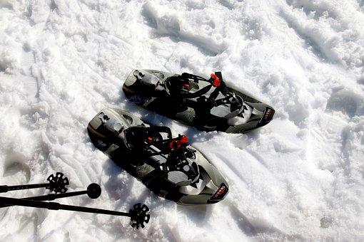 Snow Shoes, Snowshoeing, Snow, Alpine, Mountains