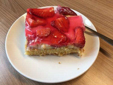 Cake, Strawberry Cake, Strawberries, Delicious, Sweet