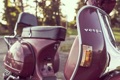 Vespa, Motorcycle, Scooter, Transport, Vehicle