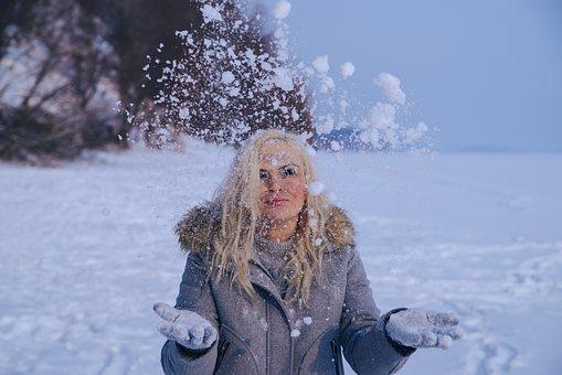 Blonde In A Winter Wonderland, Winter, Glacier, Icicles