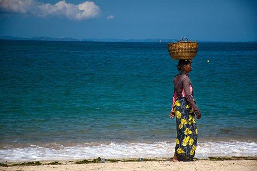 Africa, Woman, Madagascar, Island, See, Beach, People