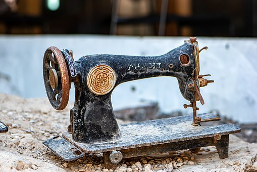 Sewing Machine, Old, Out Of Order, Antique, Rare