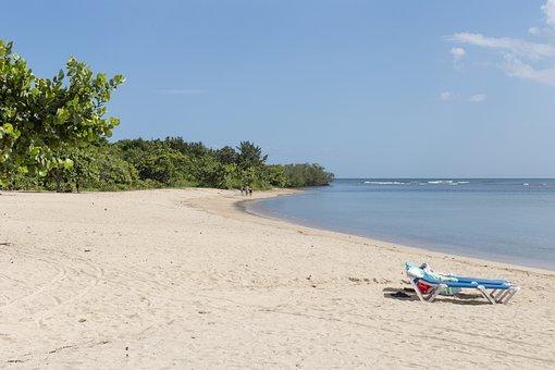 Cienfuegos, Cuba, Deck Chair, Beach, Sand, Sea