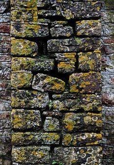 Wall, Stone, Lichen, Masonry, Texture, Structure, Old