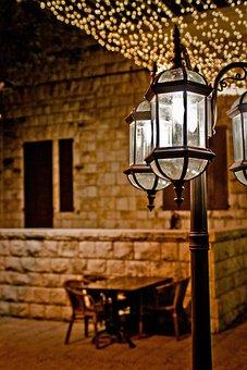 Lamp, Night, Light, Dark, City