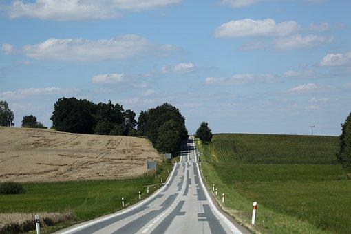 Road, Sky, Asphalt, Landscape, Direction, Mood, Path