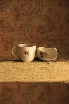 Cup, Child, Duck, Sweet, Still Life, Old, Retro, Small