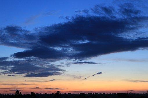 Sunset, Sky, Landscape, Sunrise, Clouds, Evening, Dusk