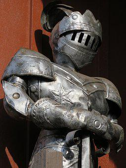 Knight, Armor, Metal, Vintage, Middle Age, Sword
