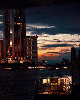 City, Architecture, Urban, Night, Building, Travel