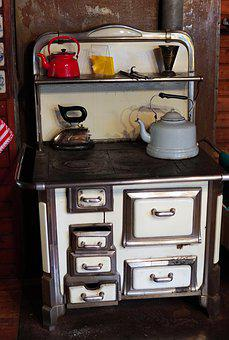 Oven, Old, Cook, Antique, Stove, Kitchen, Historically