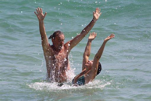 Friendship, Love, Peace, Fun, Relaxation, Couple, Sea