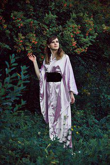 Kimono, White, Light, Robe, Belt Black, Karate, Sports