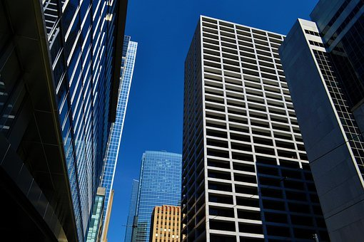 Office Buildings, Houston, Texas, Business, Downtown