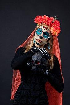 Halloween, Day Of The Dead, Mexico, Calavera Catrina