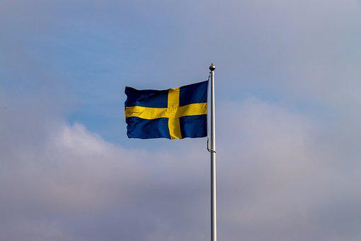 Flag, Wind, Sweden, Flutter, Blow