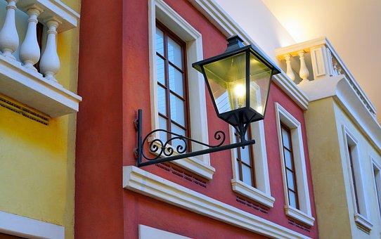 Lantern, Light, Lamp, Architecture, Facade, Lighting