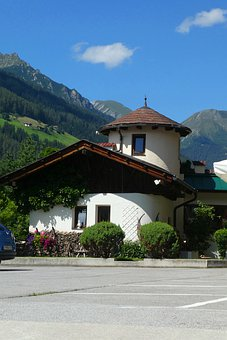 House, Home, Alps, Mountains, View, Architecture
