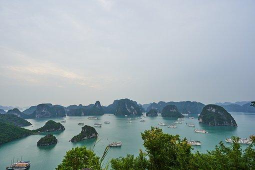 Vietnam, Halong Bay Vietnam, Landscape, Nature, Sea