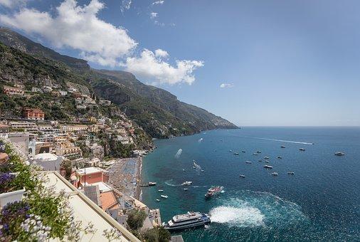 Positano, Italy, Amalfi, Sorrento, Mediterranean, Coast
