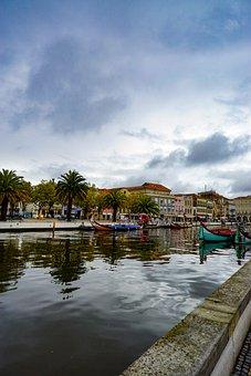 Portugal, Aveiro, Central, Canal, Moriseiro, River
