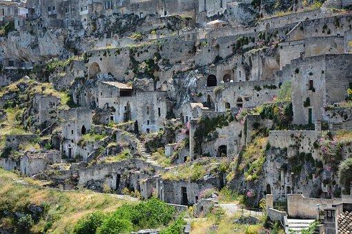 Of Matera Sassi, Matera, Basilicata, Cave Houses
