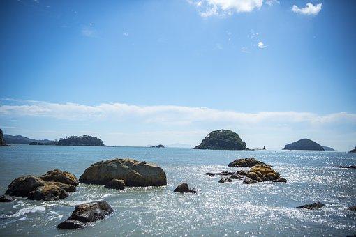 Sea, Geogeumdo, Cleaning Jewelry, South Coast, Island