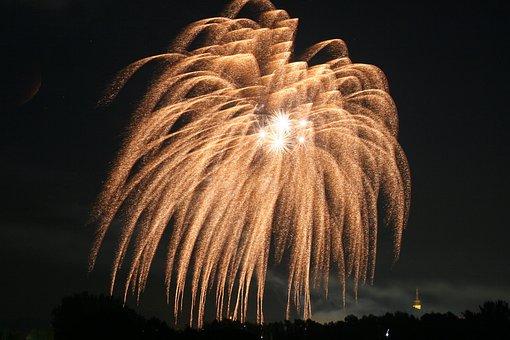 Fireworks, Sky, Rocket, Show, New Year's Eve, New, Glow