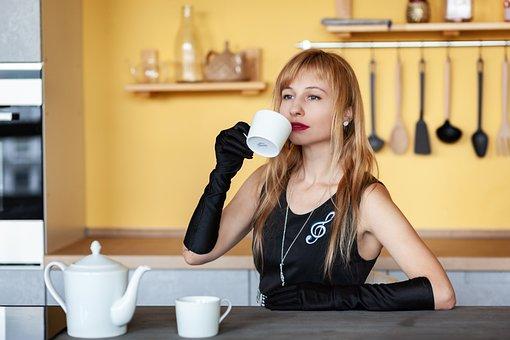 Tea, Tea Party, Girl, Woman, Mistress, Treat, Guests