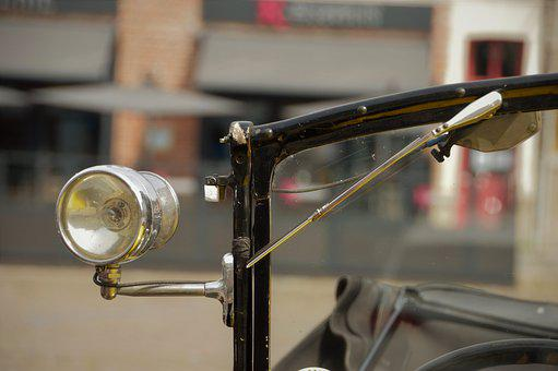 Lighting, Light, Fire, Antique, Retro, Car, Windshield