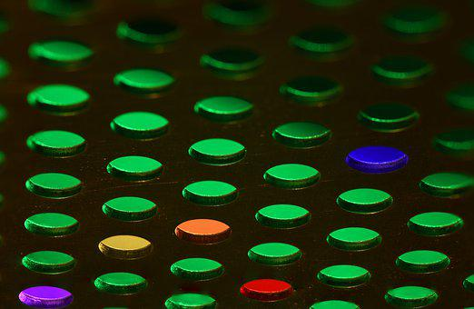 Abstract, Green, Pattern, Holes, Colorful Accents
