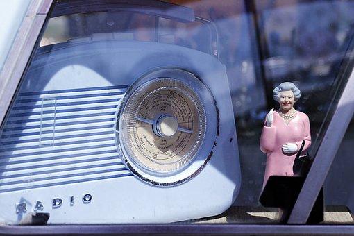 Oldtimer, Radio, Retro, Queen Elizabeth, Mum, Figure