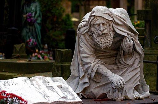 Sculpture, Figure, Metal, Art, Artistic, Man, Old