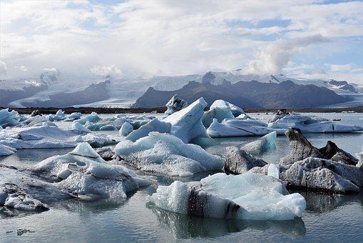 Sky, Sea, Iceland, Ocean, Ice, Beautiful, Blue, Cold