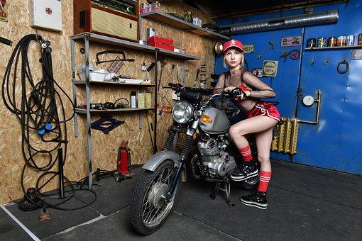 Motorcycle, Bike, Biker, Sports, Motorcycling, Garage