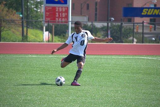 Sports, Football, Position, Soccer, Grass, Athlete