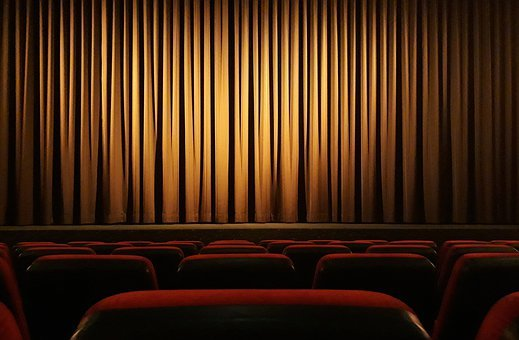 Cinema, Curtain, Theater, Film, Background, Stripes