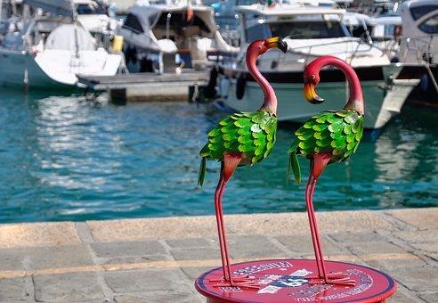 Flaming, Port, Portofino, Sea, Italy, Travel, Landscape