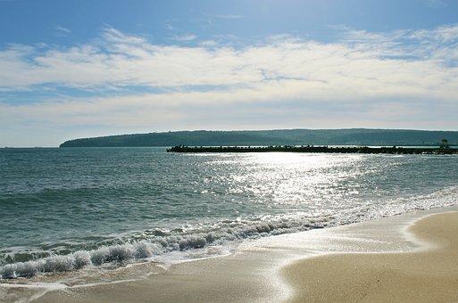 Sea, Beach, Sand, Nature, Waves, Sky, Horizon, Coast