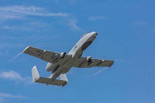 A10, A-10, Thunderbolt, Military, Aircraft, Jet