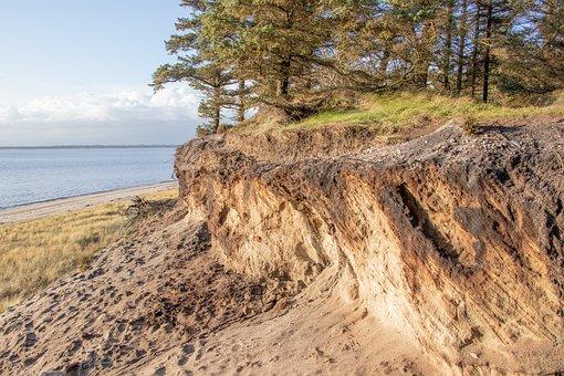 Marbæk, Esbjerg, Landscape, Escarpment, Cliff, Sand