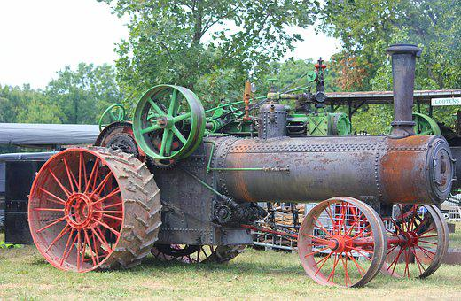 Tractor, Antique, Old, Agriculture, Farm, Machine