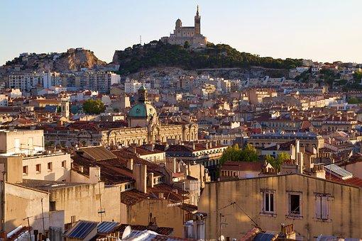 Marseille, Mountain, Notre Dame, View, Landscape, Bay